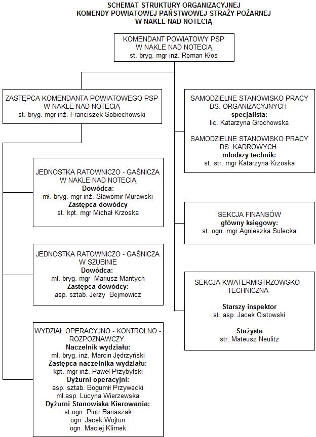 Schemat struktury organizacyjnej